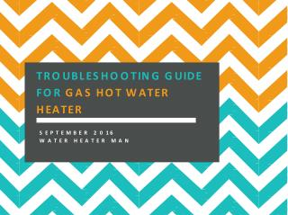 Troubleshooting Guide For Gas Hot Water Heater