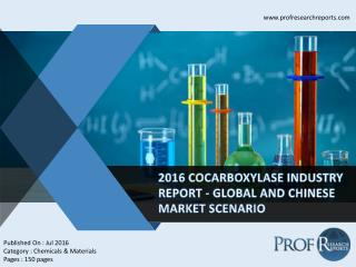 Cocarboxylase Industry Overview 2011-2021