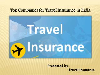 Top Companies for Travel Insurance in India