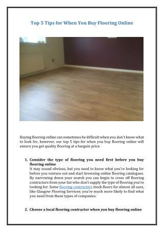 Top 5 Tips for When You Buy Flooring Online