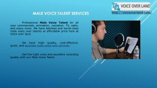 Male Voice Talent for TV, Radio, Commercials & More at Voice Over Land