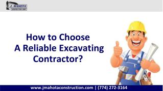 How to Choose a Reliable Excavating Contractor?