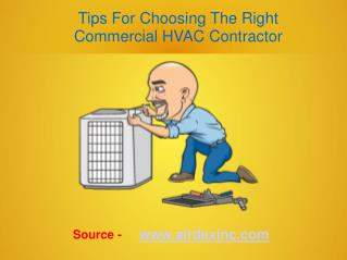 5 Tips For Choosing The Right Commercial HVAC Contractor