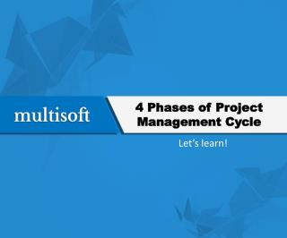 4 Phases of Project Management Cycle