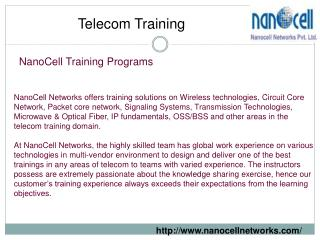 Nanocell Networks Conduct Telecom Training Programs