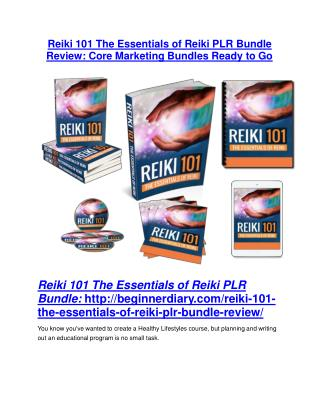 Reiki 101 The Essentials of Reiki PLR Bundle Review & GIANT bonus packs
