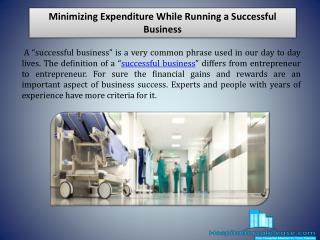 Minimizing Expenditure While Running a Successful Business