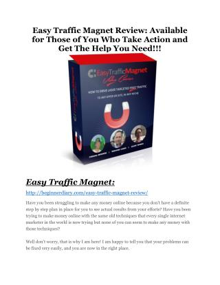 Easy Traffic Magnet review and (Free) $21,400 Bonus & Discount