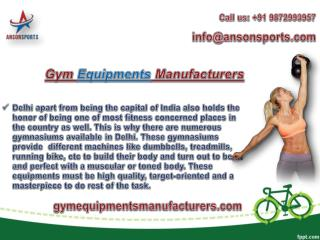 Catch products from Gym Equipment Manufacturers in Delhi