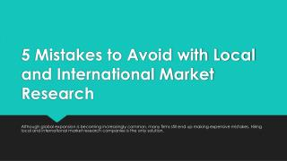 5 Mistakes to Avoid with Local and International Market Research