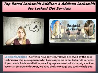 Top Rated Locksmith Addison & Addison Locksmith For Locked Out Services