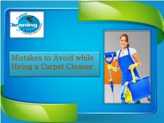 Mistakes to Avoid while Hiring a Carpet Cleaner