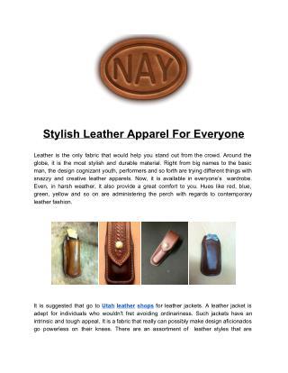 custom leather utah