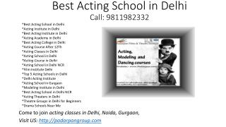 Best Acting School in Delhi, Drama Schools Near Me, Film Acting Workshop, Modeling School in India