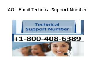 AOL Email Customer Support Number  1-800-408-6389