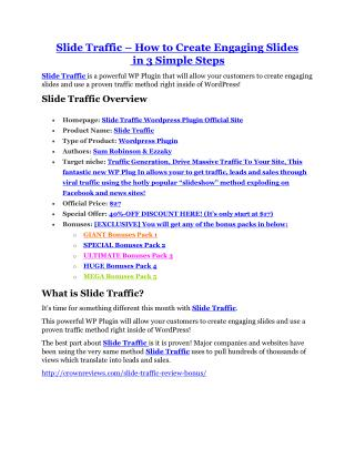 Slide Traffic review and (COOL) $32400 bonuses