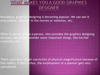 Elements that Make a Great Graphic Designer