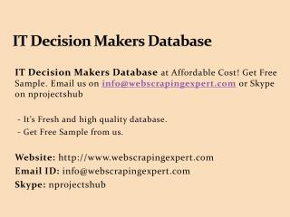 IT Decision Makers Database