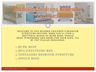 Modern Childrens Bedroom Furniture