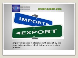 Best Import Export  Shipment Data Provider in India from Seair