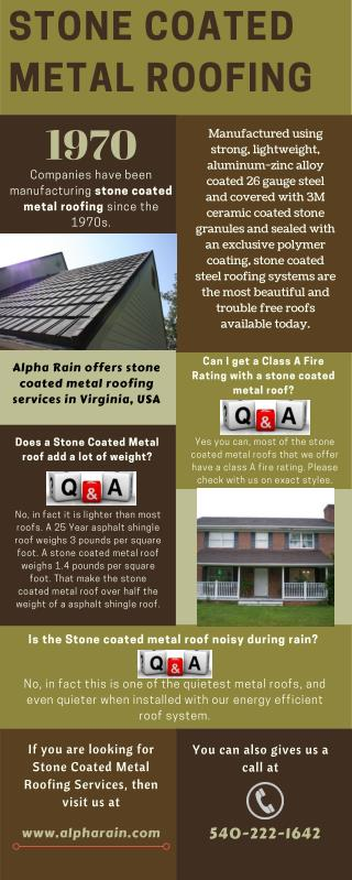 Get Stone Coated Metal Roof Installed by Alpha Rain