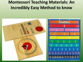Montessori Teaching Materials: An Incredibly Easy Method to know