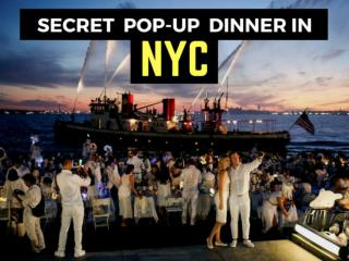 Secret pop-up dinner in NYC