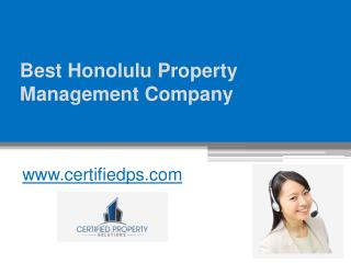 Best Honolulu Property Management Company - www.certifiedps.com