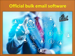 Official Bulk Email Software