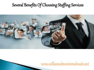 William Almonte Mahwah | Several Benefits Of Choosing Staffing Services