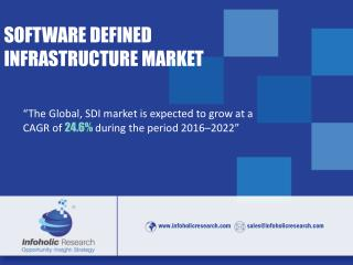 Software Defined Infrastructure – Global Market Drivers, Opportunities, Trends, and Forecasts, 2016-2022