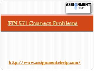 FIN 571 Connect Problems: Assignment E Help