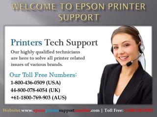Epson printer support phone number 1-800-436-0509 (USA)