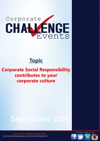 Corporate Social Responsibility contributes to your corporate culture