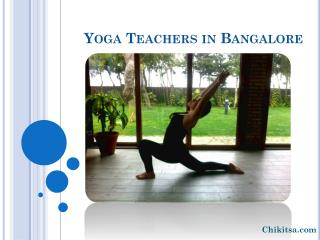 yoga/meditation teachers in Bangalore