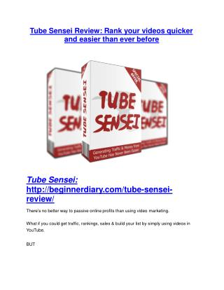 Tube Sensei Review demo - $22,700 bonus