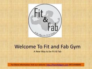 Fit and Fab Gym - Fitness,Zumba Center in Chandkheda Ahmedabad