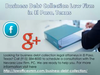 Business Debt Collection Law Firm in El Paso, Texas