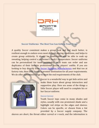 Soccer Uniforms Manufacturers, Custom Soccer Team Uniform Suppliers Australia
