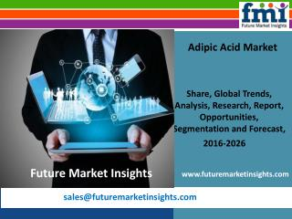 Adipic Acid Market Growth and Value Chain 2016-2026 by FMI