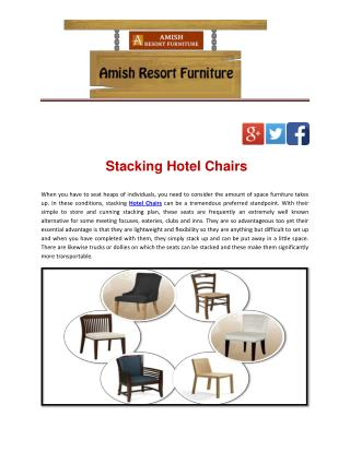 Stacking Hotel Chairs