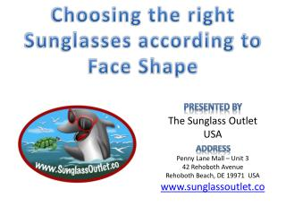 Choosing the right Sunglasses according to Face Shape