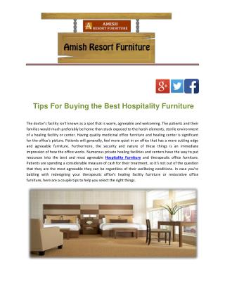 Tips For Buying the Best Hospitality Furniture