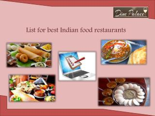 Easy to search Indian restaurant in Mississauga, Milton and other cities