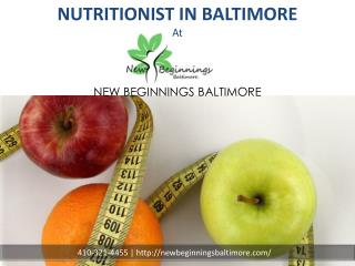 Nutritionist in Baltimore | Nutrition Programs | New Beginnings MD