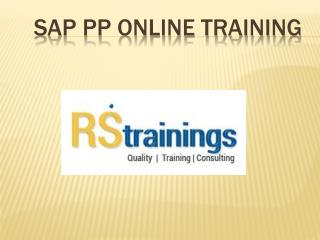SAP PP Online Training Hyderabad