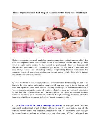Spa Massage Treatments