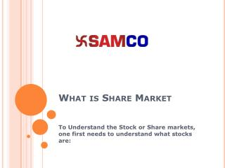 What is Share Market and How to Invest in Stock Market in India - Trade with Samco