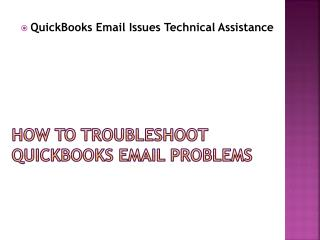 QuickBooks Email Issues Technical Assistance