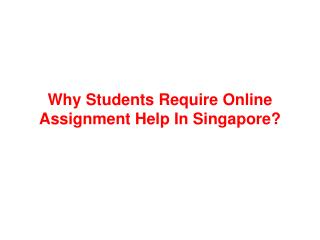 Online Assignment Help in Singapore by Experts